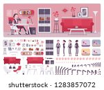 female manager business office... | Shutterstock .eps vector #1283857072