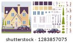 house creation kit with classic ... | Shutterstock .eps vector #1283857075