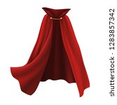 3d realistic cape in red with... | Shutterstock .eps vector #1283857342