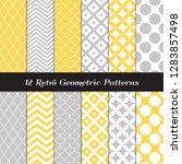 Retro Geometric Vector Patterns ...