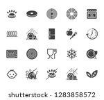 utensil flat glyph icons set.... | Shutterstock .eps vector #1283858572