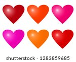 set of colorful heart icons.... | Shutterstock .eps vector #1283859685