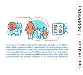babysitter concept linear...   Shutterstock .eps vector #1283864065