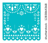 papel picado template with no... | Shutterstock .eps vector #1283864368