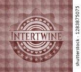 intertwine red seamless emblem...   Shutterstock .eps vector #1283875075