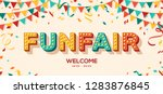funfair banner with typography... | Shutterstock .eps vector #1283876845