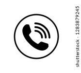call icon vector. phone icon... | Shutterstock .eps vector #1283879245