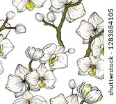 blossom floral seamless pattern ... | Shutterstock .eps vector #1283884105