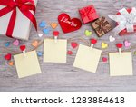 valentine's day background with ... | Shutterstock . vector #1283884618