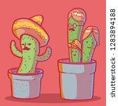 cactus character set vector... | Shutterstock .eps vector #1283894188