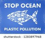 stop ocean plastic pollution.... | Shutterstock .eps vector #1283897968
