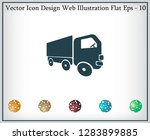 pictograph of truck | Shutterstock .eps vector #1283899885