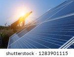 solar panel  alternative... | Shutterstock . vector #1283901115