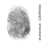 fingerprint isolated on white | Shutterstock . vector #128390366