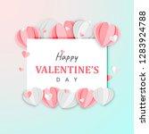 paper art of happy valentine's... | Shutterstock .eps vector #1283924788