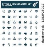 business vector icon set | Shutterstock .eps vector #1283925022