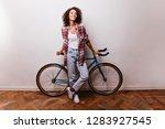full length portrait of... | Shutterstock . vector #1283927545