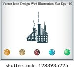 icon of factory. vector... | Shutterstock .eps vector #1283935225