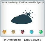 sun and cloud weather web icon | Shutterstock .eps vector #1283935258