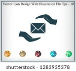 insurance correspondence icon... | Shutterstock .eps vector #1283935378