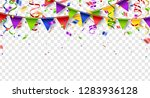 colorful buntings  serpentine... | Shutterstock .eps vector #1283936128