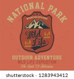 outdoor adventure  wild life... | Shutterstock .eps vector #1283943412