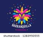 carnaval de barranquilla ... | Shutterstock .eps vector #1283950555