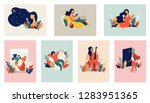 feminine concept illustration ... | Shutterstock .eps vector #1283951365