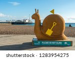 brighton  england 18 october... | Shutterstock . vector #1283954275
