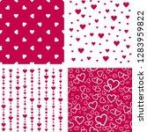 seamless patterns with hearts.... | Shutterstock .eps vector #1283959822