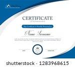 vector certificate template | Shutterstock .eps vector #1283968615