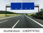 sign on highway | Shutterstock . vector #1283974762