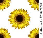 sunflower seamless pattern.... | Shutterstock .eps vector #1283974798