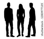 set of vector silhouettes of... | Shutterstock .eps vector #1283977135