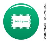 just married label icon. simple ...   Shutterstock .eps vector #1283983858