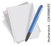 3c vector drawing. pen and... | Shutterstock .eps vector #1283988055