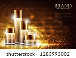 cosmetic product poster  bottle ... | Shutterstock .eps vector #1283993002