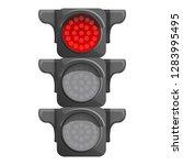 crossroad semaphore red light... | Shutterstock .eps vector #1283995495