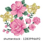 traditional flower bunch | Shutterstock .eps vector #1283996692