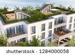 roof terrace of modern... | Shutterstock . vector #1284000058