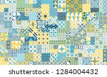 seamless pattern with... | Shutterstock .eps vector #1284004432