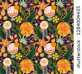 floral seamless pattern on... | Shutterstock .eps vector #1284004435