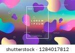 colorful minimalistic geometric ...   Shutterstock .eps vector #1284017812
