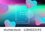 colorful minimalistic geometric ...   Shutterstock .eps vector #1284022192