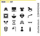 activity icons set with premium ...