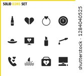 healthy icons set with vinyl...