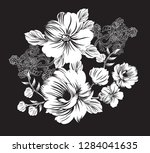 black  flower bunch | Shutterstock .eps vector #1284041635