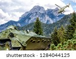 armored troop carrier on... | Shutterstock . vector #1284044125