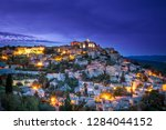 view of the medieval town of... | Shutterstock . vector #1284044152