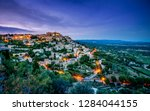 view of the medieval town of... | Shutterstock . vector #1284044155